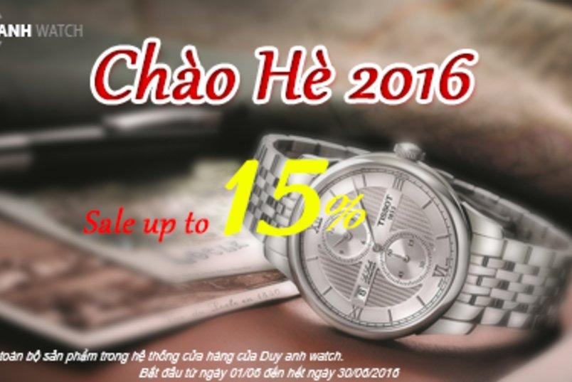 Chào Hè 2016 Duy Anh Watch Giảm Giá lên tới 15%