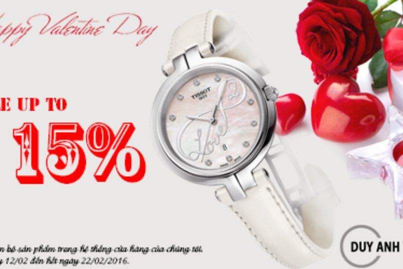 Đồng Hồ Duy Anh giảm giá lên tới 15% nhân dịp Valentine 2016