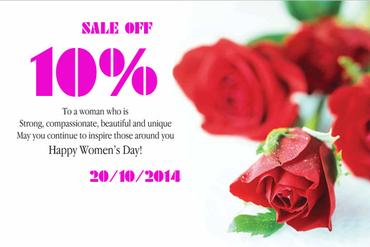 Khuyến mại chào mừng ngày phụ nữ Việt Nam 20-10
