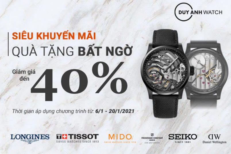 Đồng hồ Duy Anh: SALE SIÊU BỰ 40% + QUÀ TẶNG BẤT NGỜ