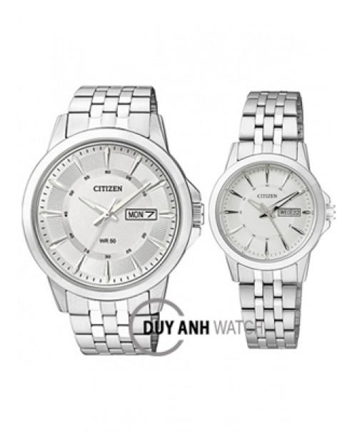 Đồng hồ đôi Citizen BF2011-51A và EQ0601-54A
