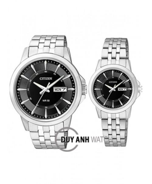 Đồng hồ đôi Citizen BF2011-51E và EQ0600-57E