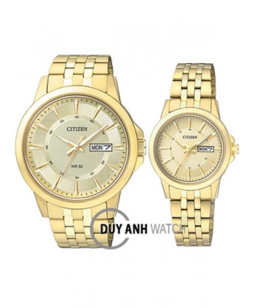 Đồng hồ đôi Citizen BF2012-59P và EQ0602-51P