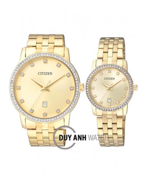 Đồng hồ đôi Citizen BI5032-56P và EU6032-51P