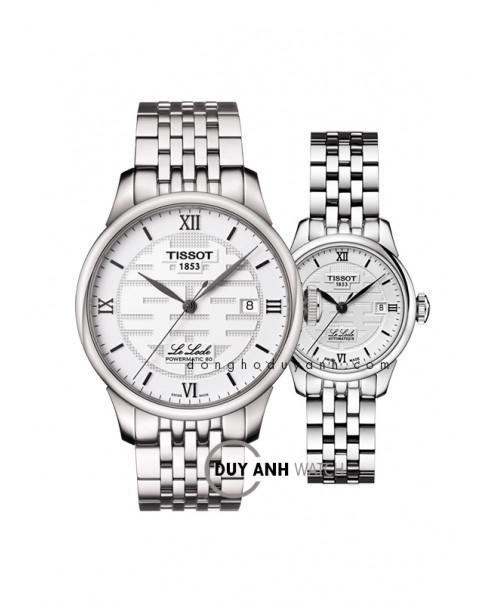 Đồng hồ đôi Tissot Lelocle Powermatic 80 T006.407.11.033.01 và T41.1.183.35