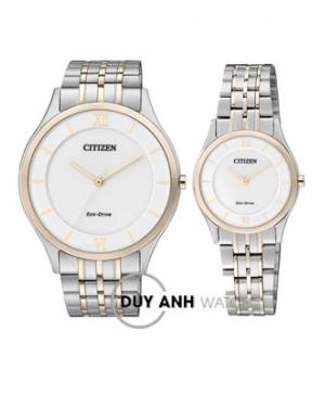 Đồng hồ đôi Citizen AR0074-51A và EG3224-57A