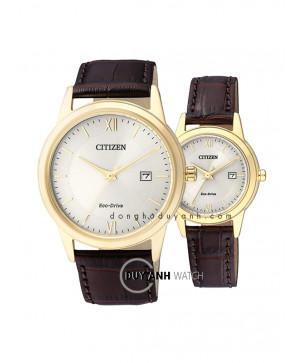 Đồng hồ đôi Citizen AW1232-12A và FE1082-13A