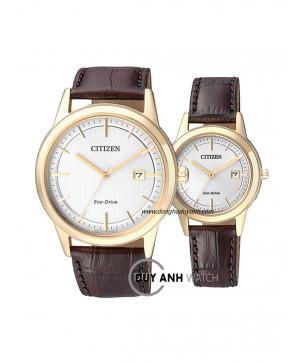 Đồng hồ đôi Citizen AW1233-01A và FE1083-02A