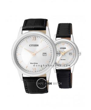 Đồng hồ đôi Citizen AW1236-11A và FE1086-12A