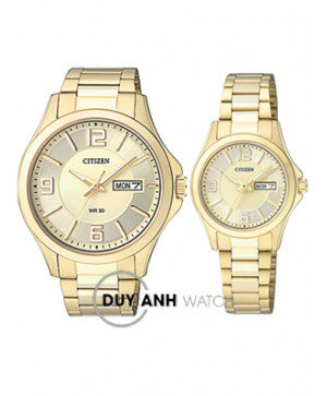 Đồng hồ đôi Citizen BF2003-50P và EQ0593-51P