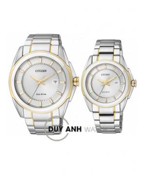 Đồng hồ đôi Citizen BM6725-56A và EW1515-51A