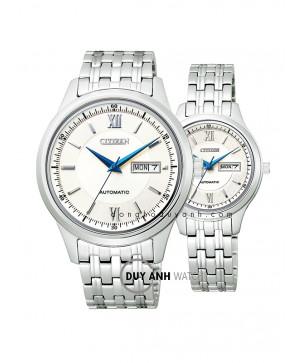 Đồng hồ đôi Citizen NY4051-51A và PD7151-51A