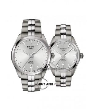 Đồng hồ đôi Tissot PR 100 TITANIUM T101.410.44.031.00 và T101.210.44.031.00