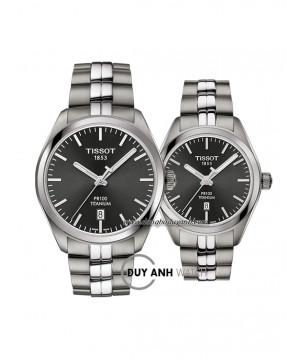 Đồng hồ đôi Tissot PR 100 TITANIUM T101.410.44.061.00 và T101.210.44.061.00