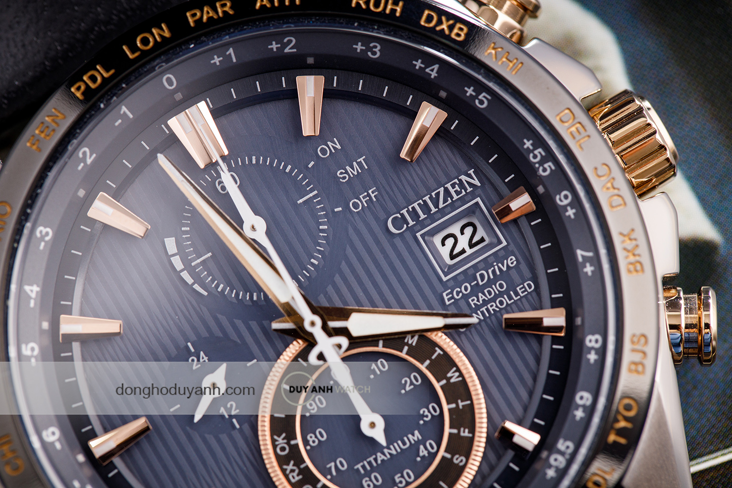 ĐỒNG HỒ CITIZEN ECO DRIVE RADIO CONTROLLED AT8158-14H