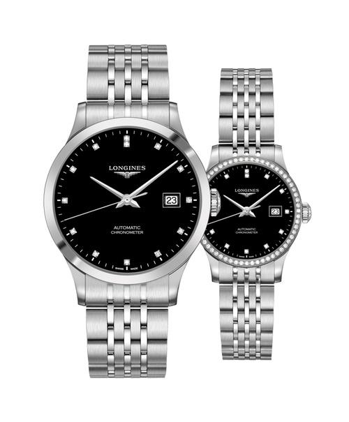 Đồng hồ đôi Longines Record L2.821.4.57.6 và L2.321.0.57.6