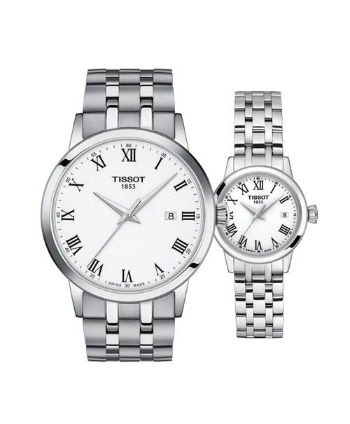 Đồng hồ đôi Tissot Classic Dream T129.410.11.013.00 và T129.210.11.013.00