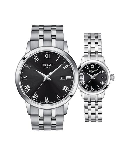 Đồng hồ đôi Tissot Classic Dream T129.410.11.053.00 và T129.210.11.053.00