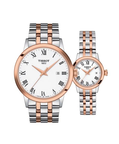 Đồng hồ đôi Tissot Classic Dream T129.410.22.013.00 và T129.210.22.013.00