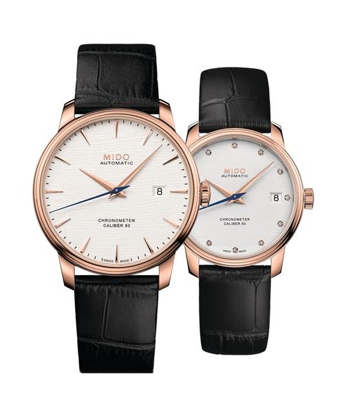 Đồng hồ đôi MIDO Baroncelli M027.408.36.031.00 và M027.208.36.036.00