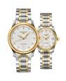 Đồng hồ đôi Longines Master L2.628.5.77.7 và L2.257.5.77.7 small