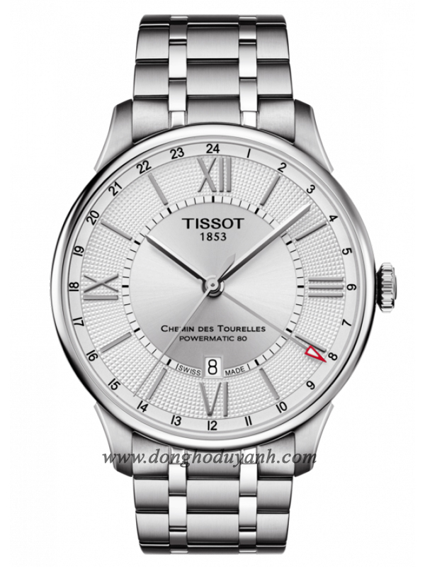 TISSOT CHEMIN DES TOURELLES POWERMATIC 80 GMT T099.429.11.038.00