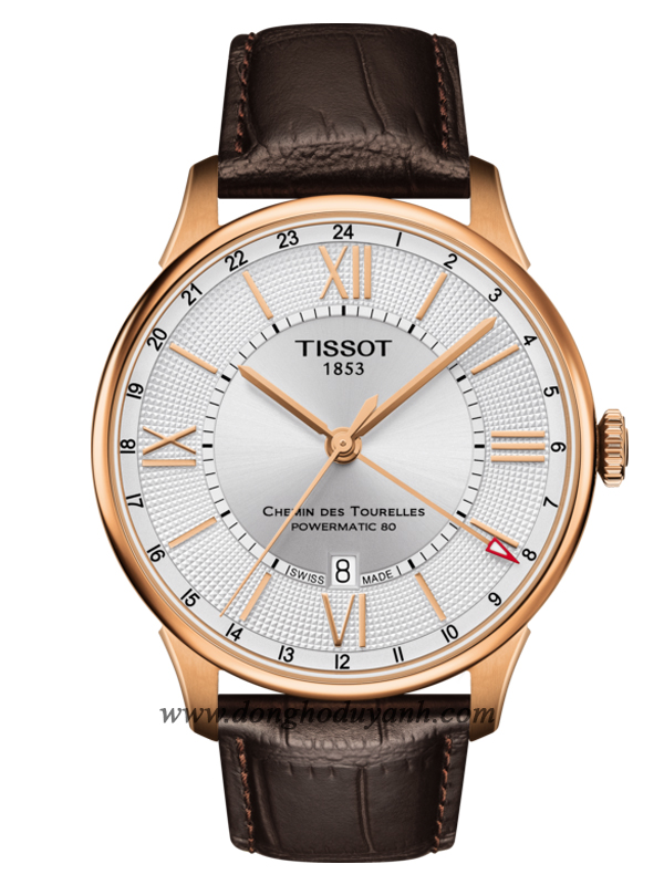 TISSOT CHEMIN DES TOURELLES POWERMATIC 80 GMT T099.429.36.038.00