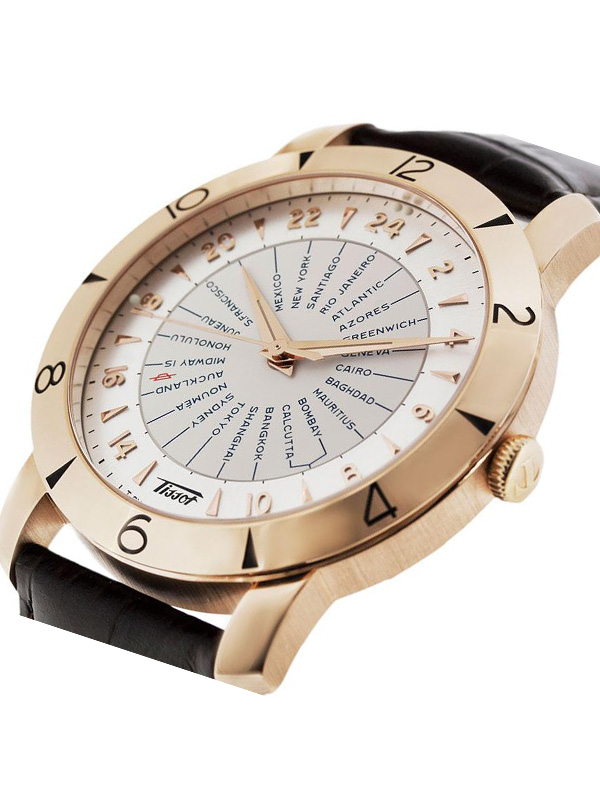TISSOT HERITAGE AUTOMATIC 160TH ANNIVERSARY NAVIGATOR GOLD AUTOMATIC COSC  T915.641.76.037.00