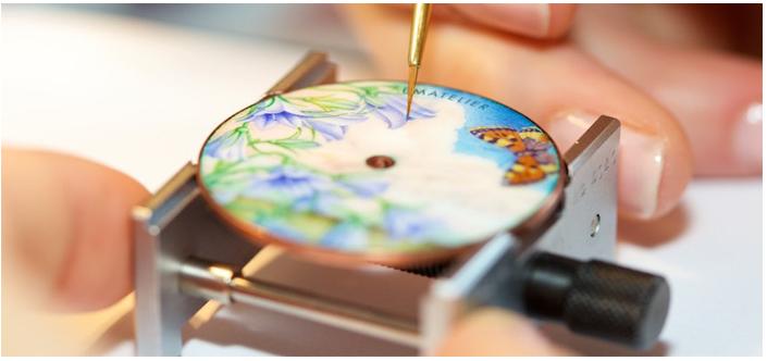 Kỹ thuật Enameling trên đồng hồ